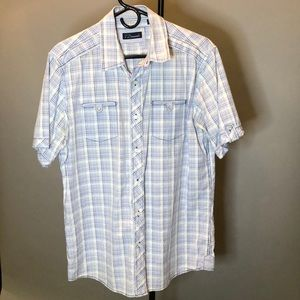 7 Diamonds Mens short sleeve button down Large